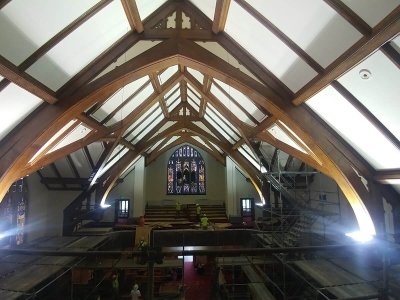 Church Renovation Spencer, IN - Acoustical Contractors 3